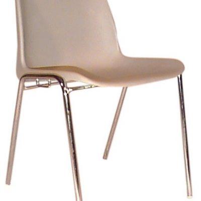 sedia scocca plastica grigio perla noleggio